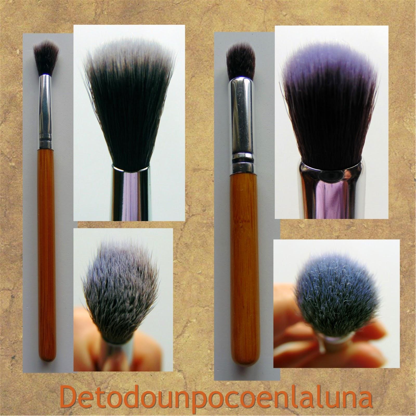 Set 11 brochas de maquillaje de bambú de Buyincoins pinceles ojos