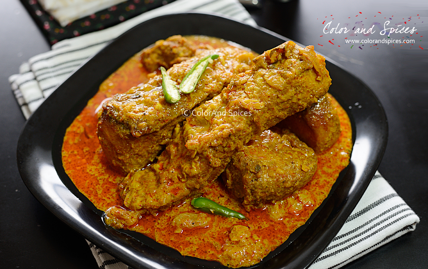 Color and Spices: Macher kaliya   a bong special fish curry