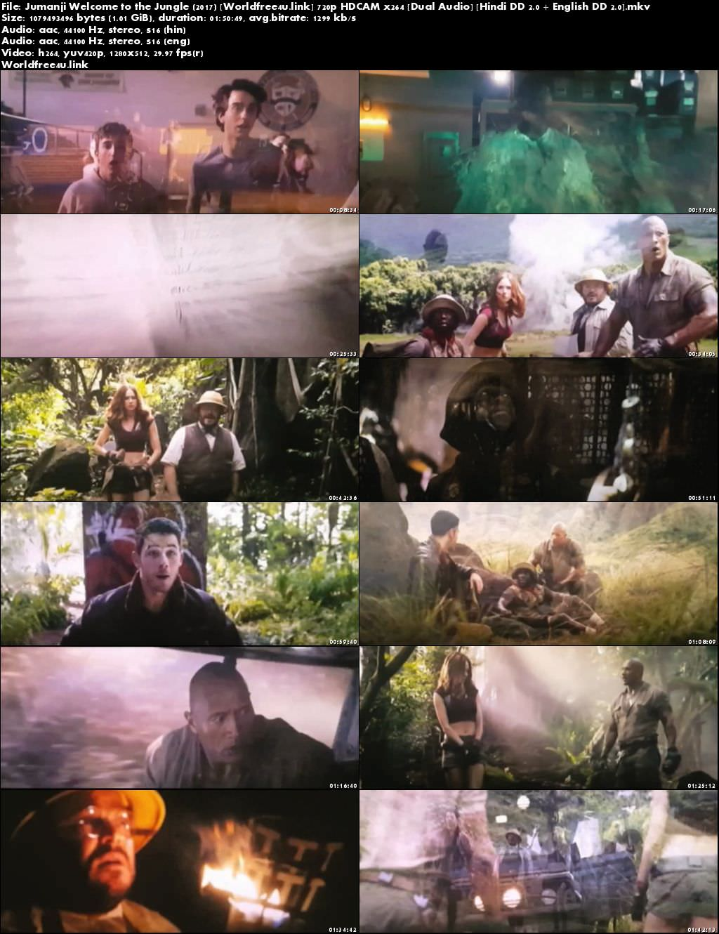 Screen Shoot of Jumanji: Welcome to the Jungle 2017 Full Hindi Movie Download Dual Audio Hd Watch Free Online In English, Jumanji Welcome to the Jungle 2017 Hindi Dubbed Movie Download