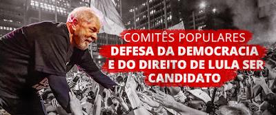 Lula com multidão, em defesa da candidatura