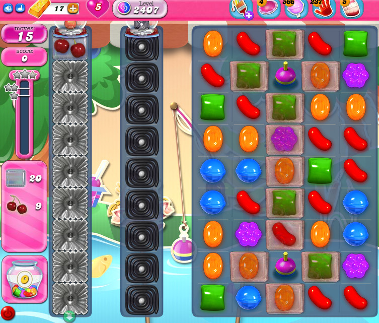Candy Crush Saga level 2407