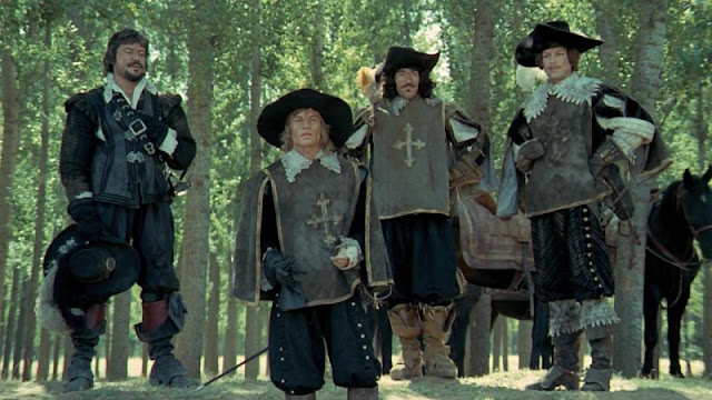 The Four Musketeers: Oliver Reed, Michael York, Frank Finlay and Richard Chamberlain