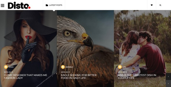 Disto Blogger Template