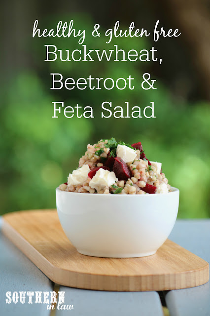 Healthy Buckwheat, Beetroot and Feta Salad Recipe - gluten free, low fat, clean eating recipe, sugar free, soy free, vegetarian, vegan option, goat cheese, lunch, salads, dinner, meal prep