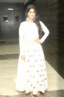Megha Akash in beautiful White Anarkali Dress at Pre release function of Movie LIE ~ Celebrities Galleries 011.JPG
