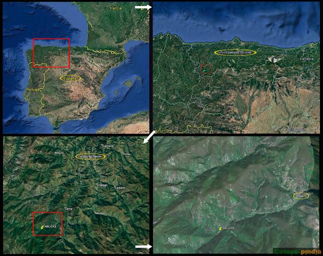 Mapa de situación de la Reserva de Muniellos