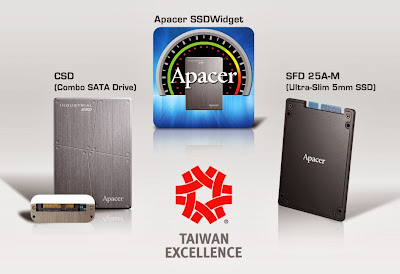 Apacer product pic of winning 22nd Taiwan Excellence Award
