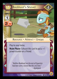 My Little Pony Rockhoof's Shovel Friends Forever CCG Card