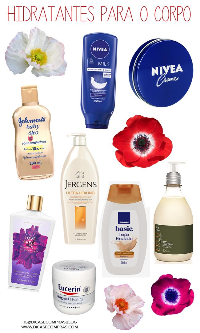 Hidratantes ótimos para peles secas, dicas para hidratar o corpo, hidratantes diversos