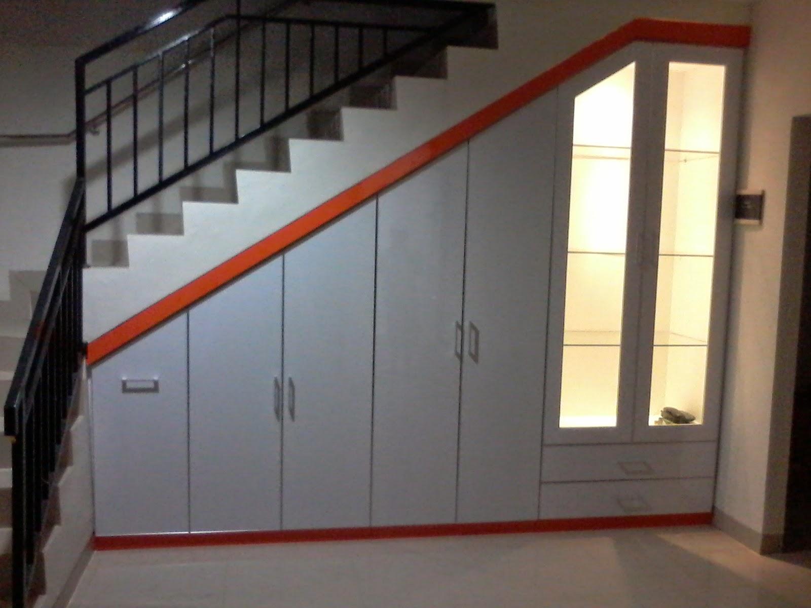 Contoh Desain Lemari Bawah Tangga  Jasa Kitchen Set Murah