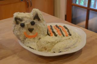 daniel tiger homemade birthday cake tiger