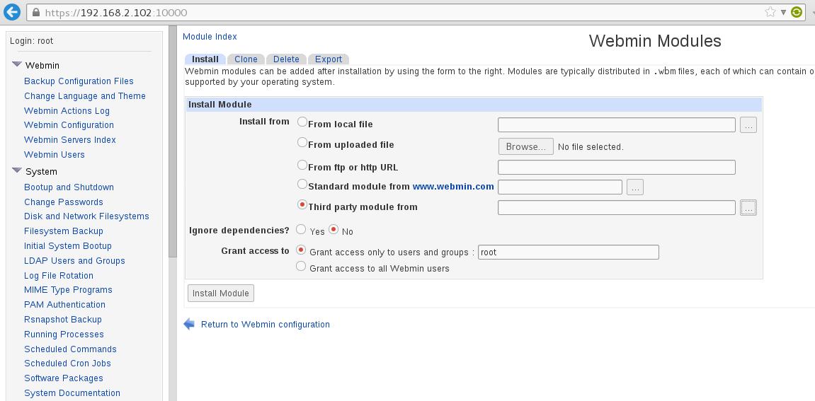 Install rsnapshot module on Webmin - Ubuntu Tutorial