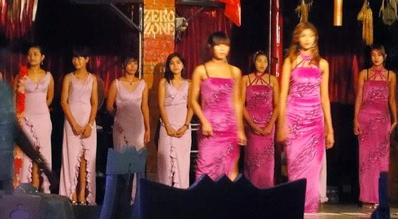 Burmese girls show group in the night shift