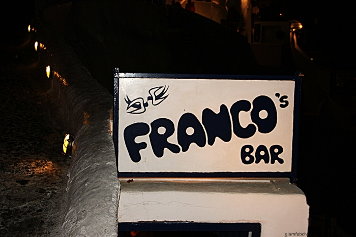 Franco's bar Thira Santorini