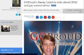 GOProud gay Republicans homosexual conservatives Jimmy LaSalvia Rick Sincere CPAC