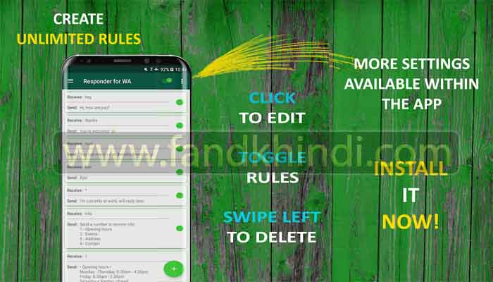 Auto Responder for WA - Auto Reply Bot-7 Must Have Android Apps For WhatsApp Users in 2020