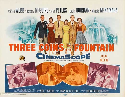 Saturday Matinee: Three Coins in the Fountain #book2movies