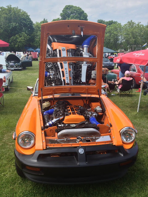 Orange British Motor Company MGB Engine