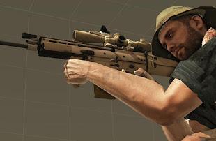 Arma 3 ericj weapons packアドオンのM3LR スコープ