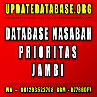 Jual Database Nasabah Jambi