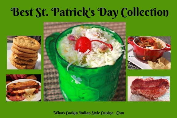 This is how to be Irish for the day recipes for St Patrick's Day. A collection of the best Irish recipes from Corned Beef in done in a slow cooker to Green Ambrosia for Dessert and so much more