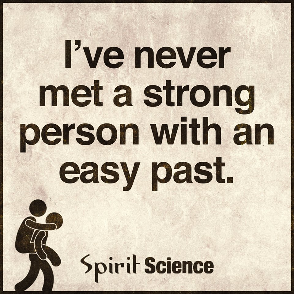 Spirit Science Quotes: I Have Never Met A Strong Person With An Easy Past