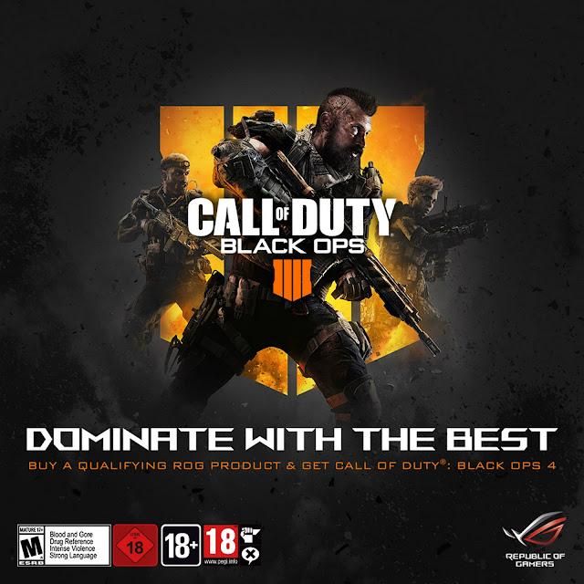 ASUS ROG anuncia parceria digital com a Activision para jogo Call of Duty®: Black Ops 4
