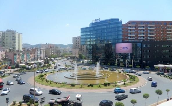 Zogu Zi roundabout in Tirana