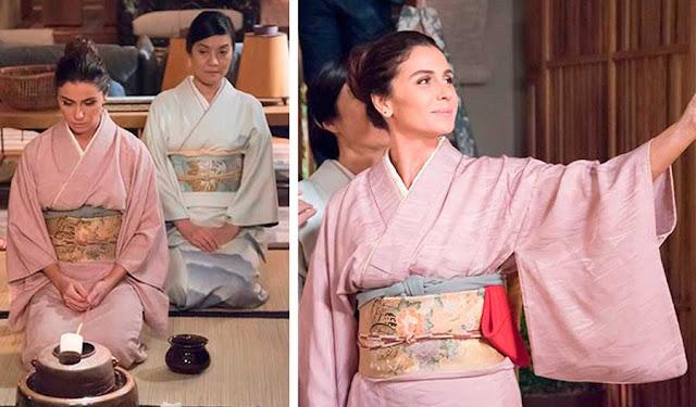 Alice (Giovanna Antonelli) figurino, Sol Nascente, kimono japonês