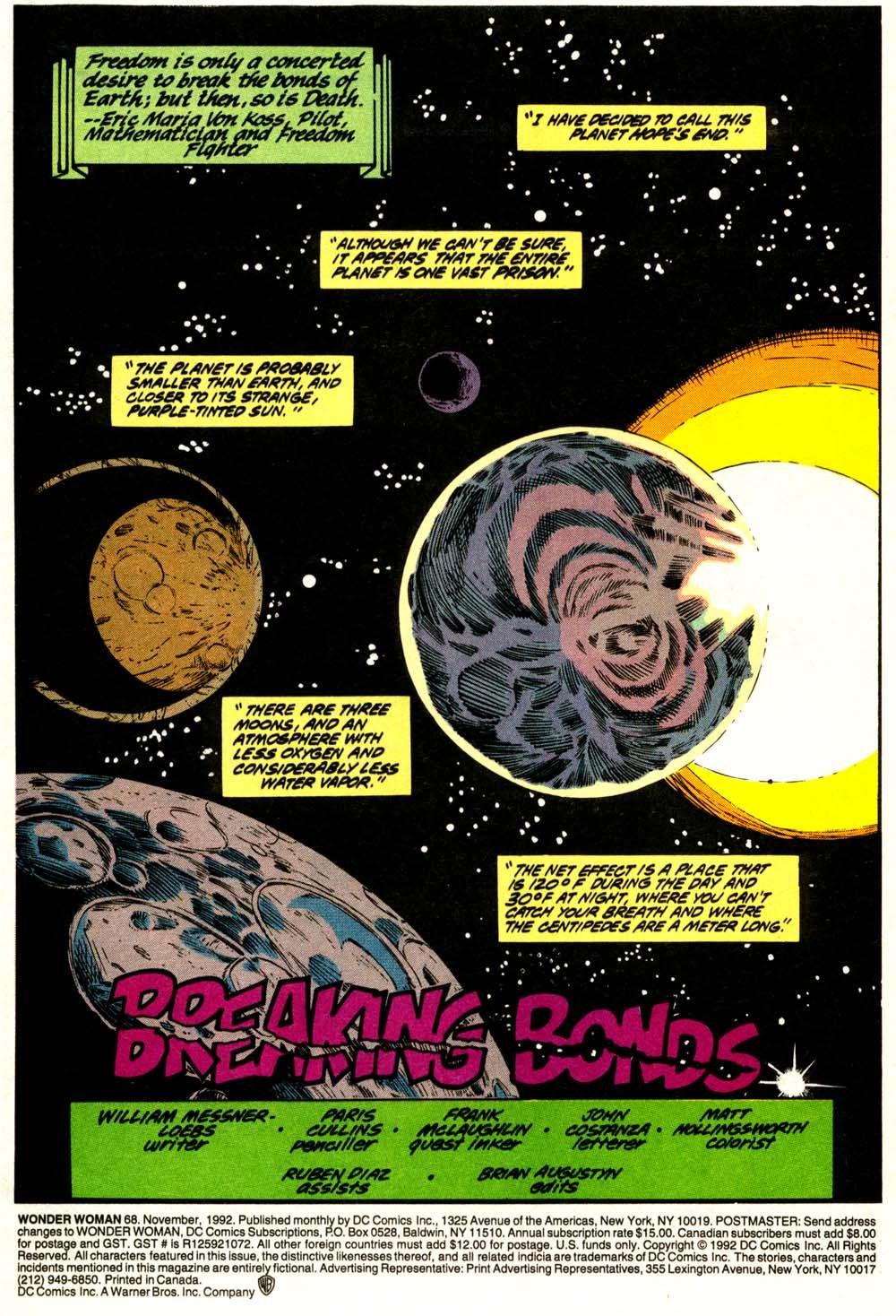 Read online Wonder Woman (1987) comic -  Issue #68 - 2
