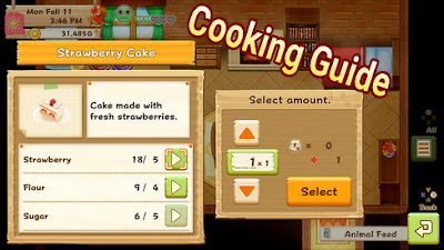 Cooking Guide in Harvest Moon: Lighr of Hope