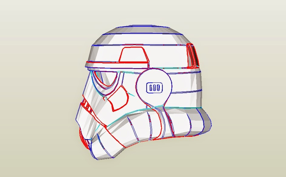 dali lomo star wars stormtrooper helmet diy cardboard pdf template