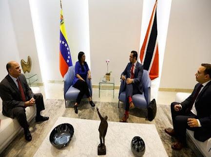 Delcy Rodríguez sostuvo encuentro con ministro de Seguridad de Trinidad y Tobago