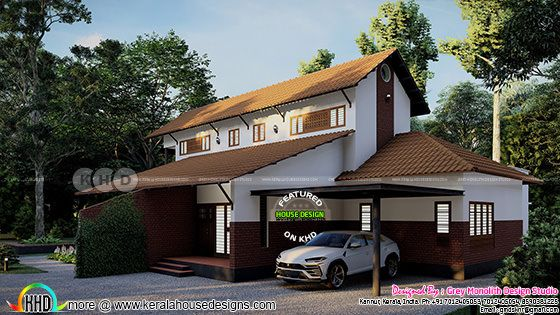 4 bedroom Kerala tharavadu house rendering