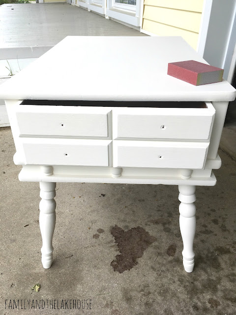 Side Table Makeover - www.familyandthelakehouse.com