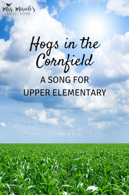 Hogs in the cornfield: A fun song for your elementary music lessons, for tika-ti and high do!