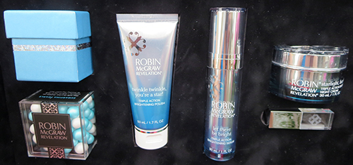 Robin McGraw Revelation's Luxury Skincare Collection is now available in Canada ~ #Review, triple action brightening polish, triple action brightening serum, triple action brightening night cream