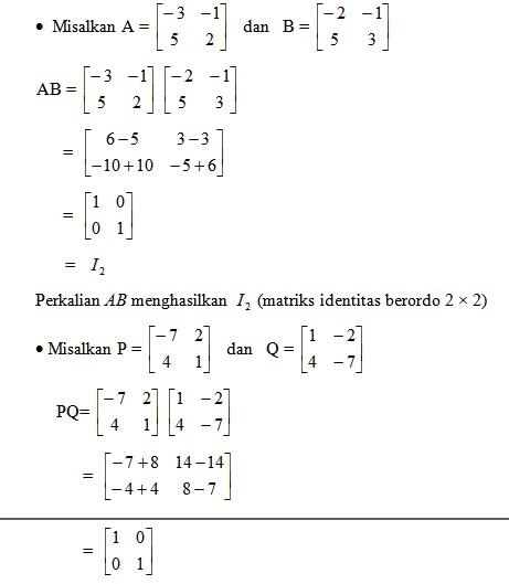 12 Contoh Soal Matriks 2 X 2 Kumpulan Contoh Soal
