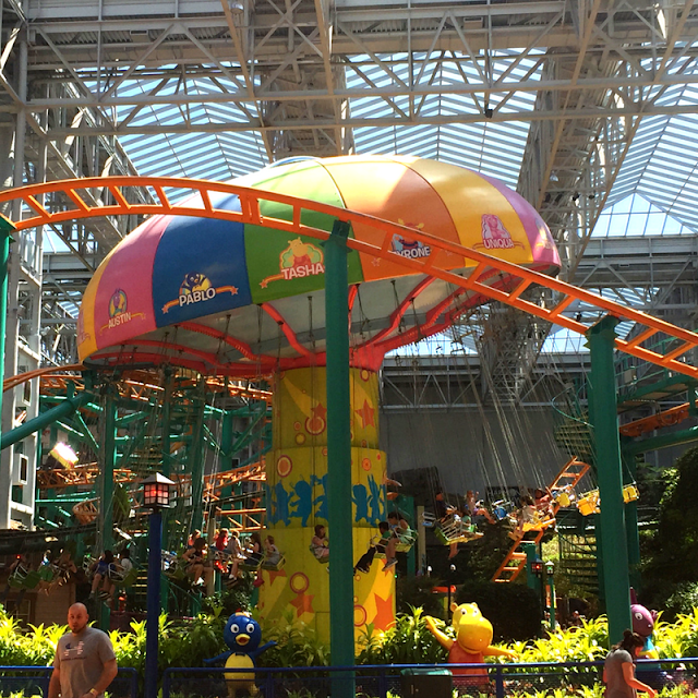 Swings at Nickelodeon Universe