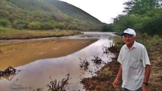 Chuvas também provocaram sangrias de açudes na Zona Rural de Carnaúba dos Dantas