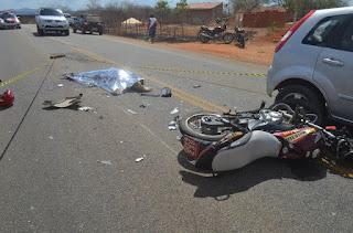 Mototaxista morre em acidente no interior da Paraíba nesta segunda (25) dia de natal