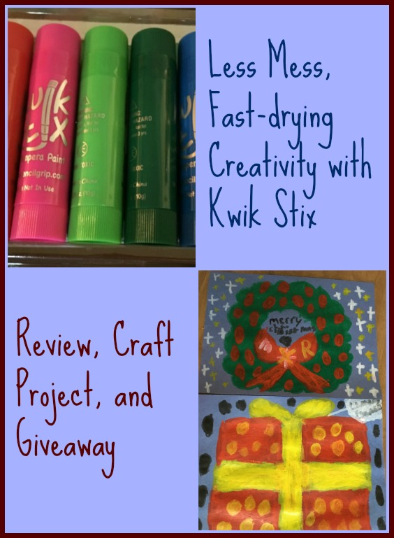 Review of Kwik Stix paints from The Pencil Grip, Inc.