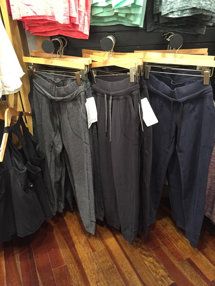 lululemon inkwell black herringbone base runner pant