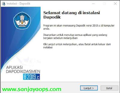 panduan install aplikasi dapodikdasmen 2020