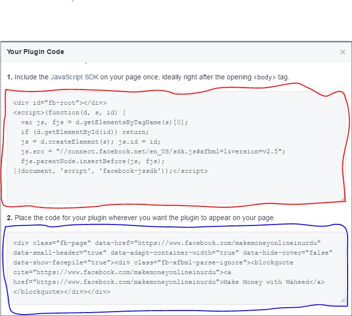 Facebook gadget code