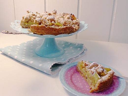Rhabarber-Streuselkuchen vegan Holunderweg18 Blog Foodblog