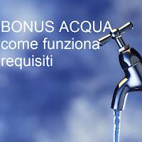 bonus acqua requisiti