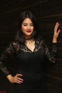 Actress Monica in spicy transparent Black Top at O Pilla Nee Valla Movie Audio Launch Feb 2017 067.JPG