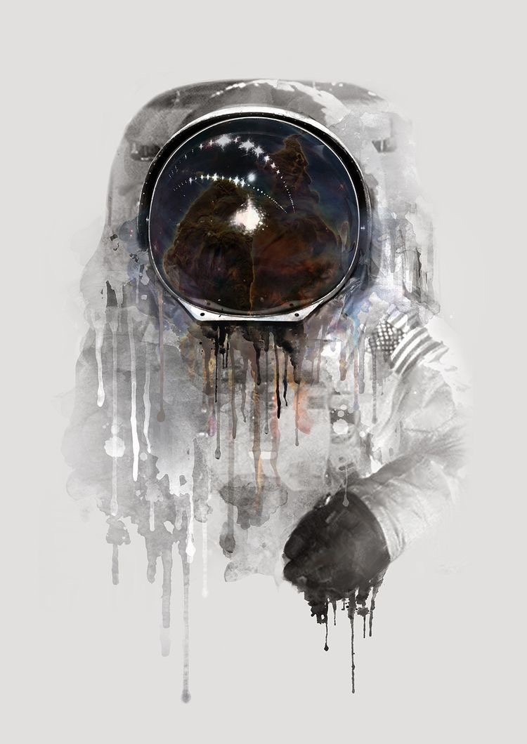 Astronaut Drawing Phone Background