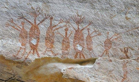 Pinturas rupestres violadas no parque nacional piauiense
